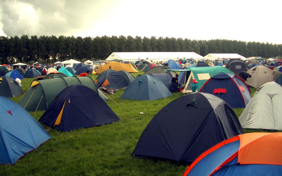 Rain on the tent The Big Chill Festival 2005