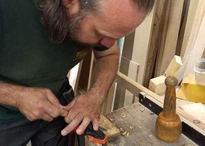 Alistair Park - Using a gouge