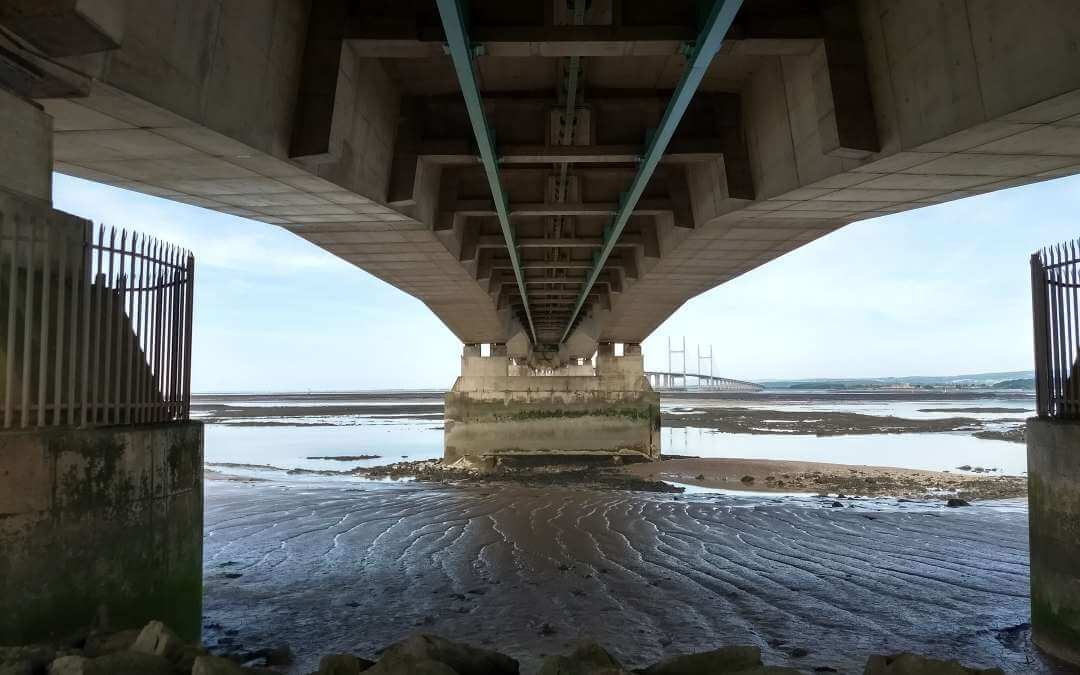 Under the M4 Severn Bridge 23rd June 2018